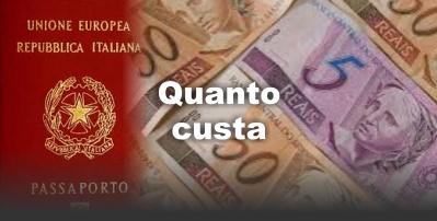 Dupla cidadania Italiana - Quanto custa